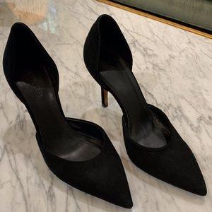Vince Black Suede D'orsay Heel
